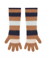 LONG STRIPED GLOVES IN CASHMERE BLEND