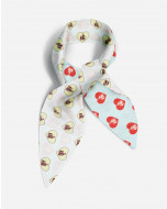 HEART PRINT SILK HEADBAND