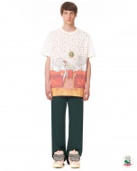SHORT-SLEEVED COTTON T-SHIRT WITH BABAR BED PRINT