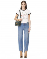 PANTALONI IN DENIM CON CUCITURE OBLIQUE