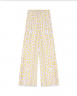 THE MAZE PRINT PALAZZO PANTS IN SILK